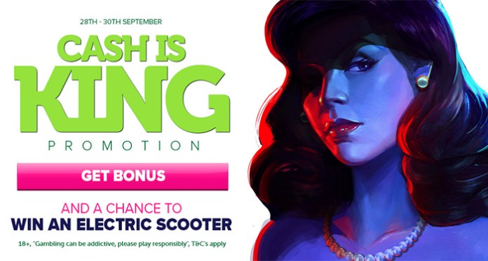 Cash is King at Casinoluck, Enter to Win an Electric Scooter