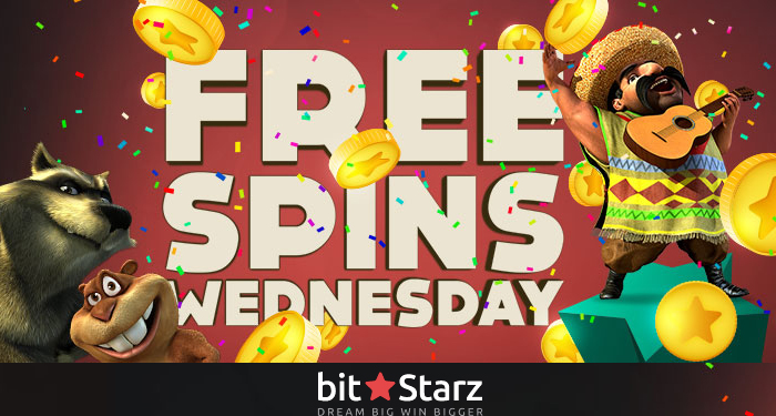 It's Free Spins Wednesdays only at BitStarz Casino!