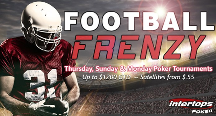 Intertops Poker Football Frenzy Tournaments Up to $1200 GTD for Weekly Tournaments