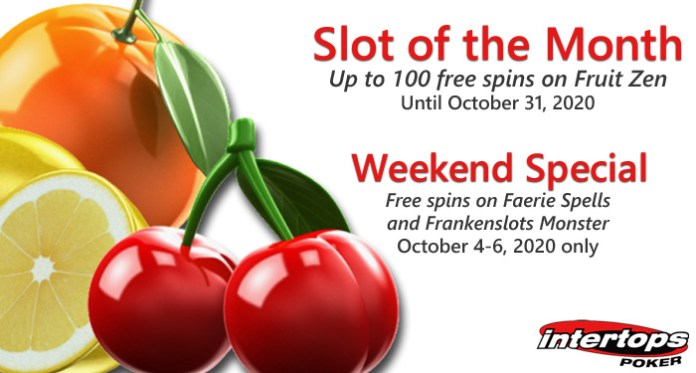 Intertops Poker Giving up to 100 Free Spins on its Fruit-Flavored Slot-of-the-Month