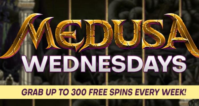 Enjoy a Freebie from Vegas Crest on the Wrath of Medusa Slot