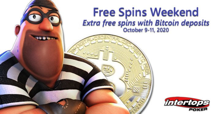 Players That Deposit in Bitcoins Get Extra Free Spins This Weekend