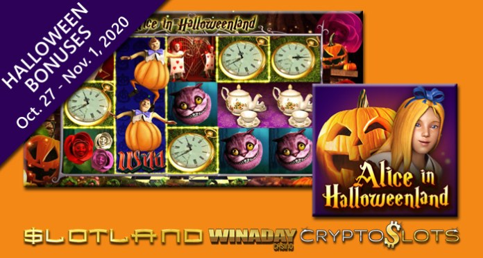 Slotland, WinADay and Cryptoslots Offering Halloween Bonuses
