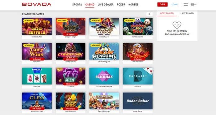 Bovada Casino Live Dealers + a Newly Updated Slots Portfolio!