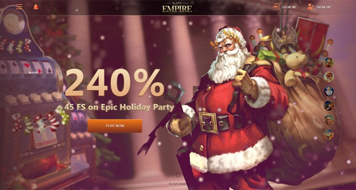 Join Slots Empire's Epic Holiday Party Celebration This Month
