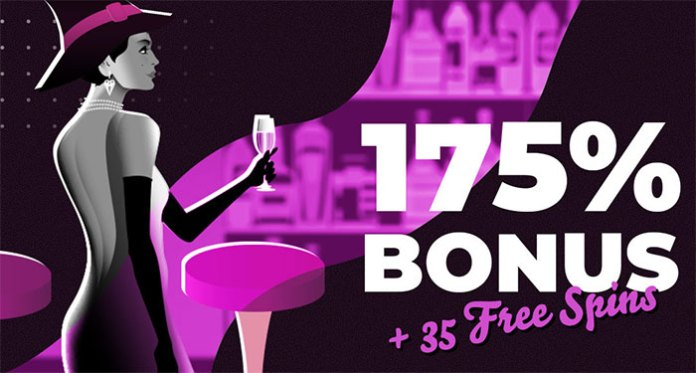 Free Spins of 175% Slots bonus+35 Spins on Witchy Wins