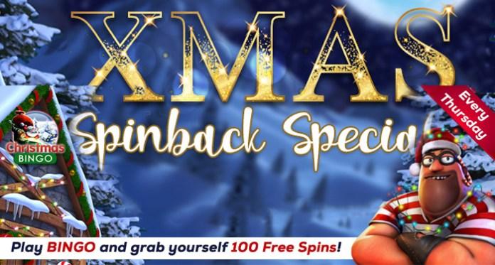 Play Bingo Get 100 Xmas Spinback Spins at Vegas Crest Casino