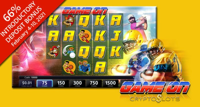 CryptoSlots Scores a Win with New 'Game On' Slot