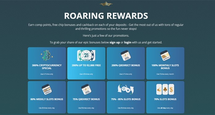 Don't Forget to Claim Monthly Rewards at Roaring 21 Casino