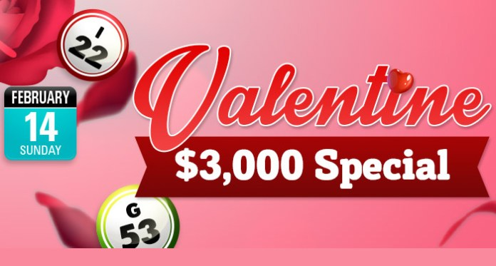 Enjoy Some Love Playing CyberSpin Casinos $3,000 Valentine Special