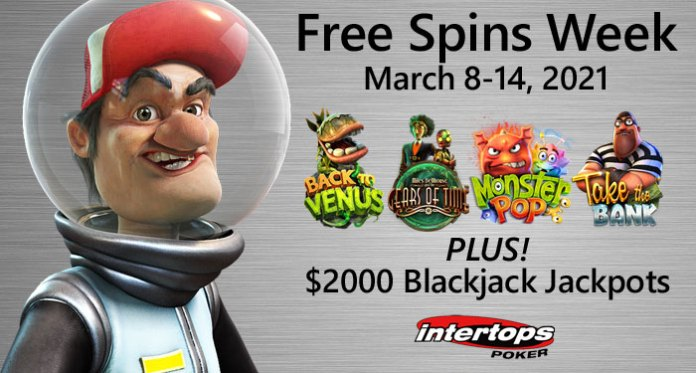 Travel Through Time and Space with a Free Spins Week at Intertops
