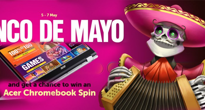 Celebrate Cinco De Mayo at Wild Slots to Win an Acer Chromebook Spin