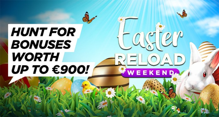 It's an Egg-Travaganza Easter Reload at BitStarz