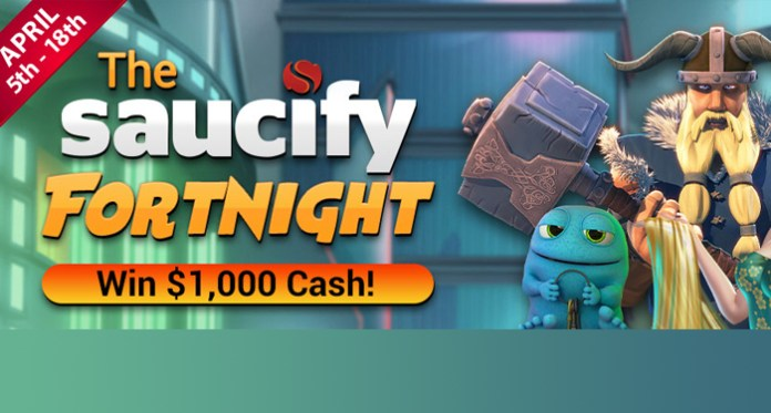 Win $1,000 Cash Playing Vegas Crest' Saucify Fortnight Tournament