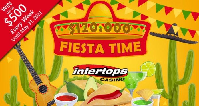 It's Fiesta Time at Intertops Casino with a $120,000 Bonus Contest