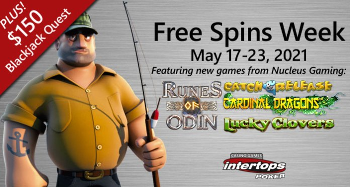 Intertops Poker Giving Free Spins on Four New Slots