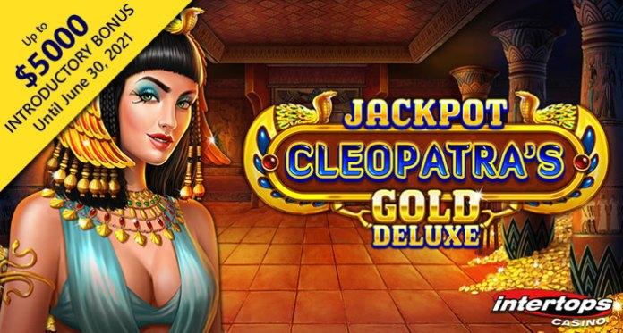 Intertops Casino's New Jackpot Cleopatra's Gold Deluxe