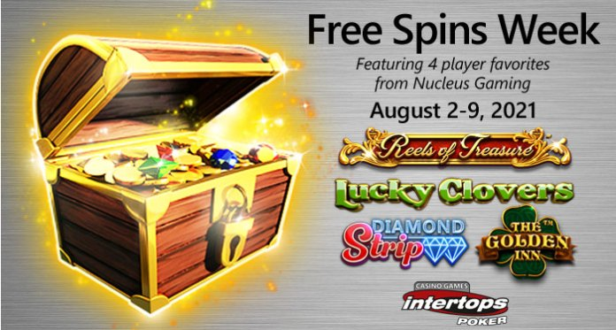 Intertops Poker's Free Spins Week, Explore 70 New Games!