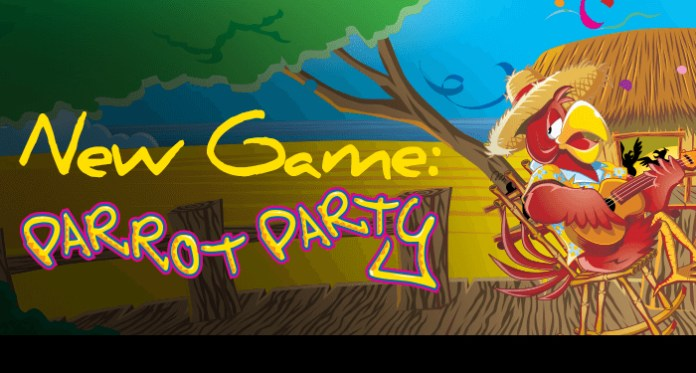Get Away on a Tropical Island When You Play Party Parrot