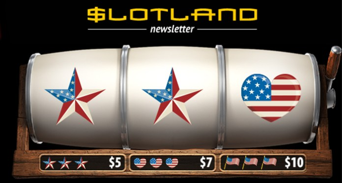Celebrate the Independence of the USA at Slotland Casino