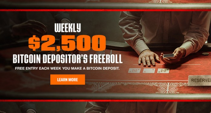 Join Ignition Poker and Get in on the Weekly $2,500 Bitcoin Depositor's Freeroll