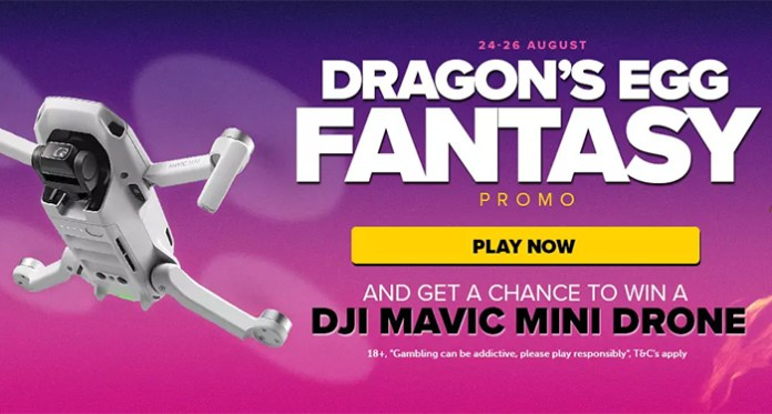 NextCasinos Dragon Egg Fantasy DJI Mavic Mini Drone Giveaway