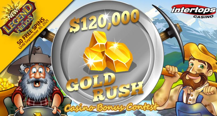 Race for $120,000 in Gold Rush Prizes in 'Legend of Helios' Slot