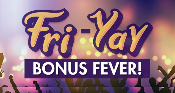 Get up to 300% Extra with Fri-Yay Bonus Fever at CyberSpins