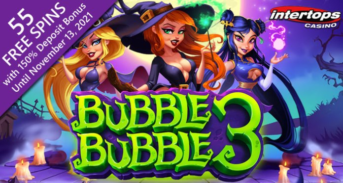 Intertops Casino Players Get 55 Free Spins on New Bubble Bubble 3