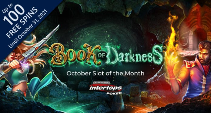 Intertops Spooky Book of Darkness is the Halloween Slot of the Month