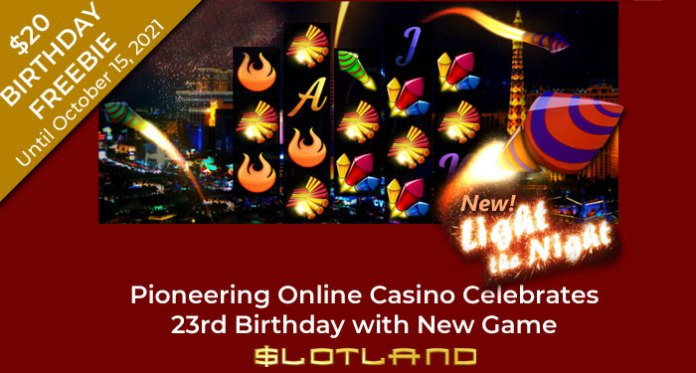 Slotland Celebrates 23rd Birthday with Fireworks and Freebies