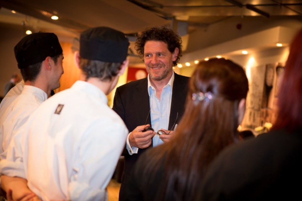 Marco Pierre White chats to students at Clarendon College Nottingham June 2013