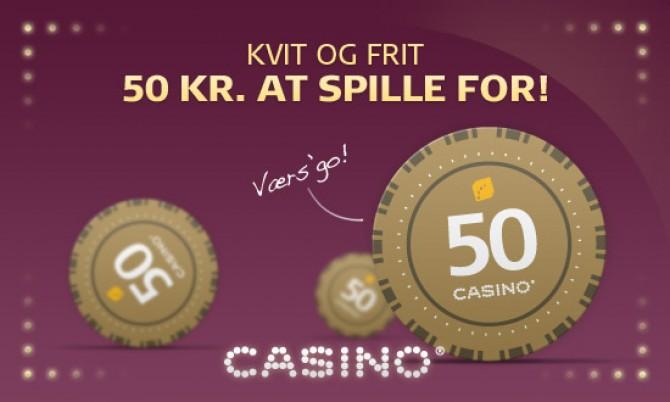 Ugens tilbud: Danske Spils Casino giver 50 kr. at spille for – kvit og frit!