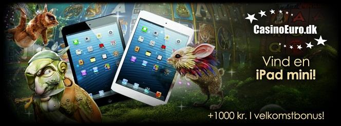 Vind en iPad mini på CasinoEuro og få 100 kr. i velkomstgave helt gratis!