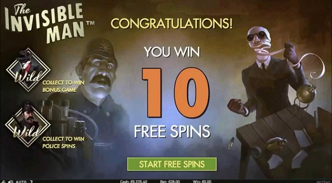 The Invisible Man lanceres med 5 free spins i dag!