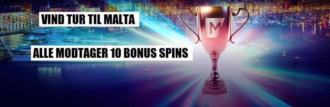 Maria Casino - vind rejse til malta og 10 bonus spins