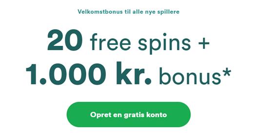 Nyt casino lanceret med 20 gratis spins