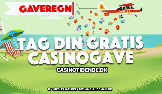 Gaveregn på Danske Spil den 22. august 2019
