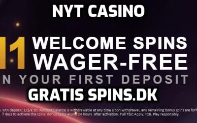 Velkomst gratis spins til nyt dansk casino den 16. oktober 2019