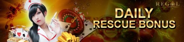 Malaysia Online Casino Regal88 DAILY RESCUE BONUS