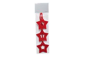 Set 3 decorazioni 'stella'