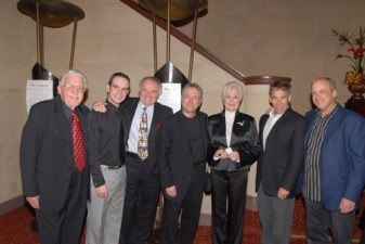 James McClosky, me, Dr. Al Rossi, Alan Menken, Shirley Jones, Stephen Schwartz and Bruce Kimmel