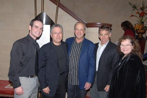 Me, Alan Menken, Bruce Kimmel, Stephen Schwartz, and Joanna Erdos