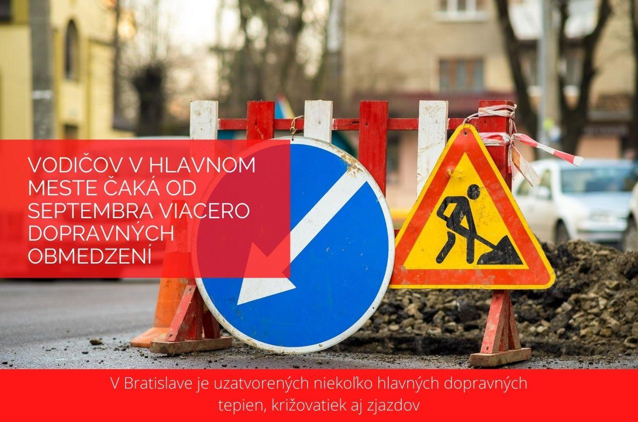 Vodičov v hlavnom meste čaká od septembra viacero dopravných obmedzení