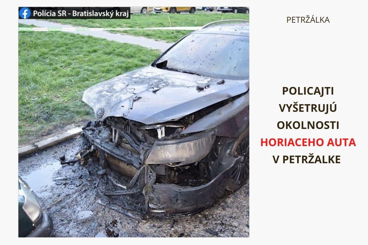 V Petržalke horelo osobné auto, polícia vyšetruje okolnosti požiaru