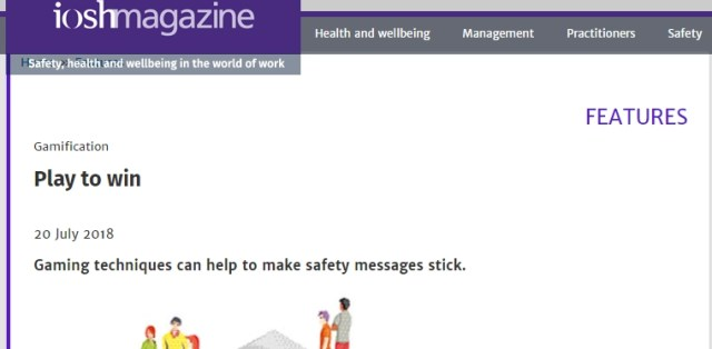 IOSH - PLAY TO WIN article