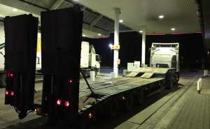 low loader tail up