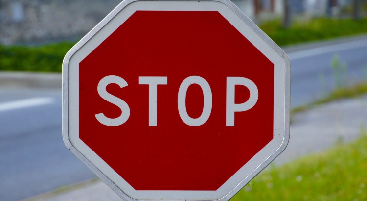 Close up of a red stop sign
