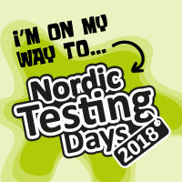 Nordic Testing Days 2018 attending badge