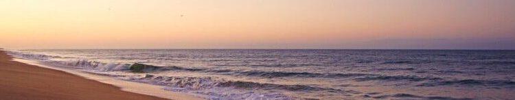 Quiet beach at dawn